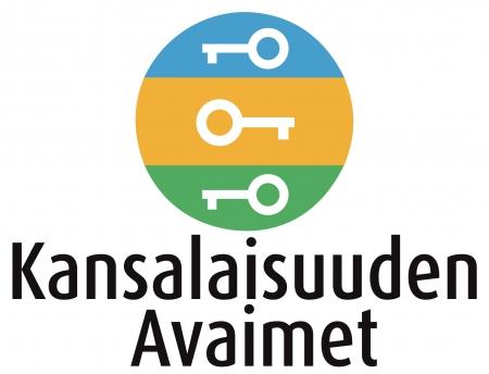 Logo, jossa lukee Kansalaisuuden Avaimet.