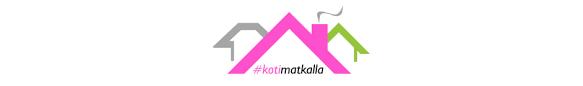 Logo, jossa lukee #kotimatkalla.