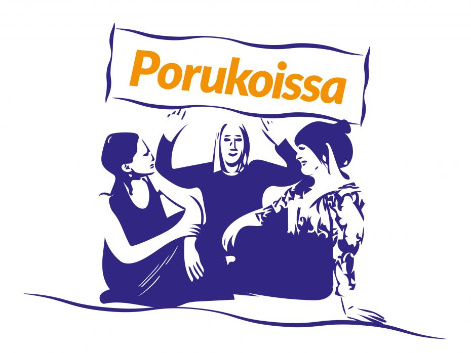 Logo, jossa lukee Porukoissa.
