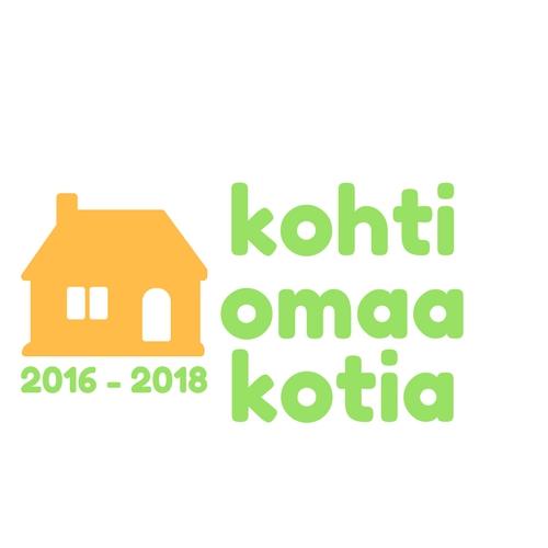 Logo, jossa lukee kohti omaa kotia, 2016-2018.