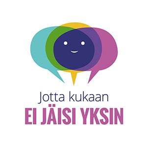 Logo, jossa lukee Jotta kukaan ei jäisi yksin.