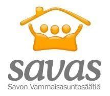 Logo, jossa lukee savas, Savon Vammaisasuntosäätiö.