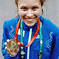 Noora Koponen ja kultamitali