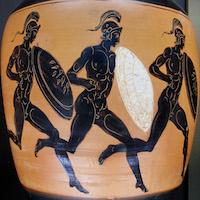 Juoksijoita antiikin Kreikan olympialaisissa.