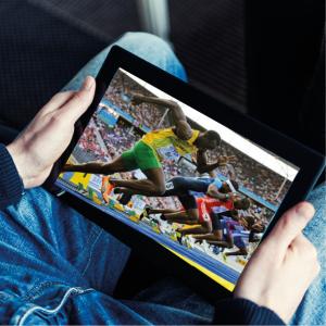 Olympialaisia voi katsoa myös tabletti-tietokoneella.