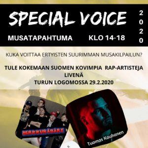 Special voice -tapahtuman juliste