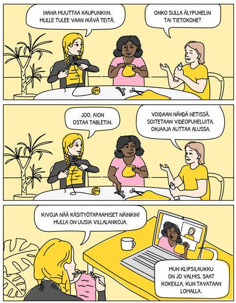 Kavereihin voi pitää yhteyttä myös netissä esimerkiksi videopuheluilla.