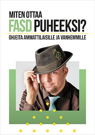 Miten ottaa FASD puheeksi? -oppaan kannessa on nuori mies.