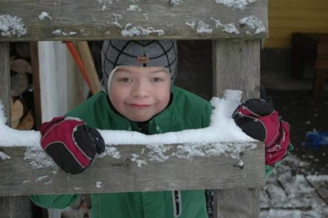 Talvinen kuva Uunosta pienenä