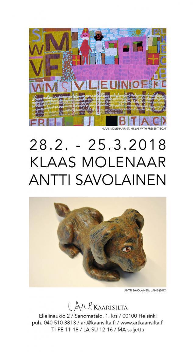 KLAAS MOLENAAR JA ANTTI SAVOLAINEN 28.2.-25.3.2018